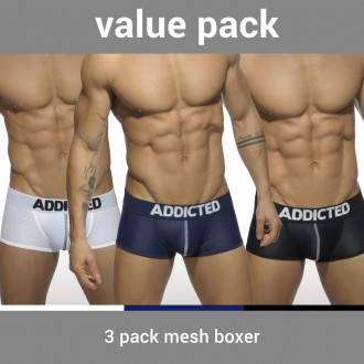 AD477P 3PACK MESH BOXER PUSH UP