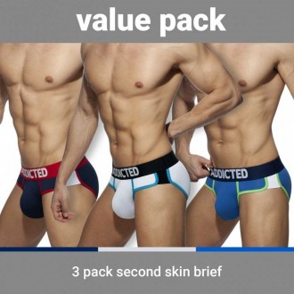 AD897P SECOND SKIN 3 PACK BRIEF