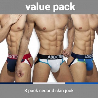 AD899P SECOND SKIN 3 PACK JOCK