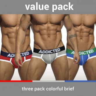 AD301P - THREE PACK BASIC BRIEF