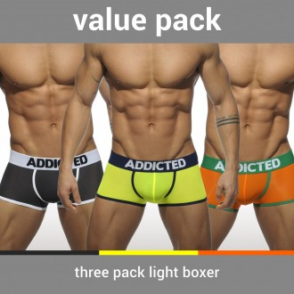 AD403P 3 PACK LIGHT BOXER