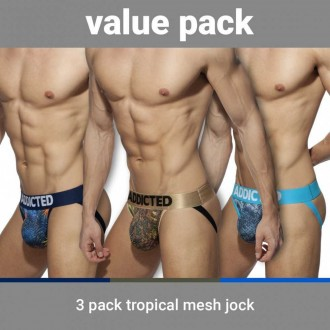 AD911P 3 PACK TROPICAL MESH JOCK PUSH UP