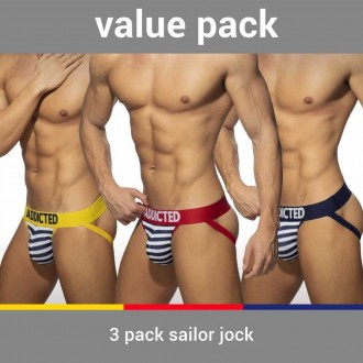 AD966P 3 PACK SAILOR JOCK