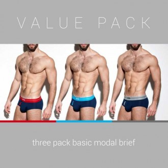 UN248P 3 PACK BASIC MODAL BRIEF